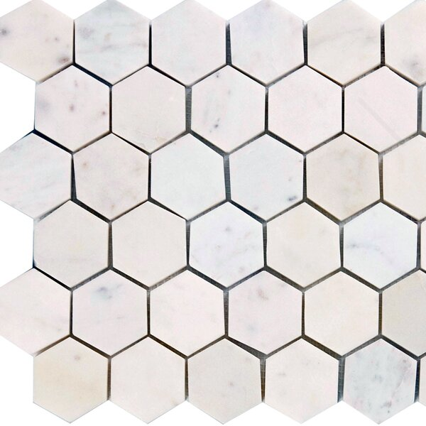 Hexagon 2 x 2 Marble Mosaic Tile in Italian Venatino by Epoch Architectural Surfaces