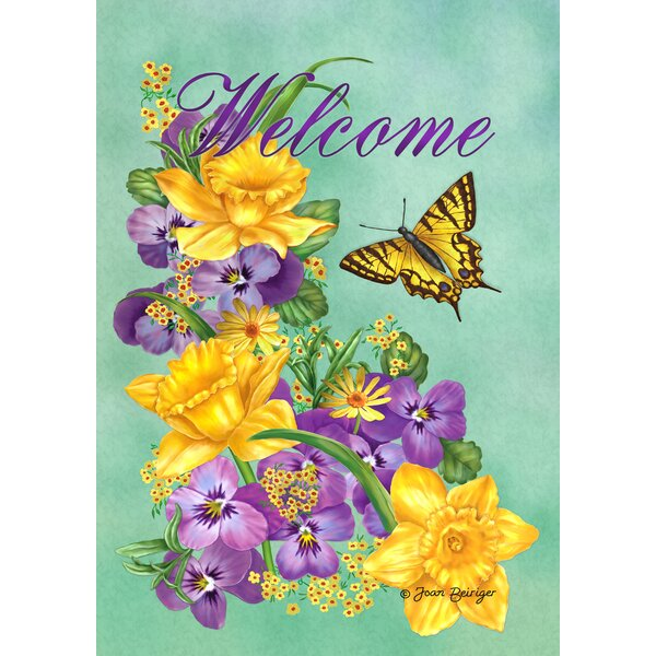 Frolic in the Flowers Garden flag by Toland Home Garden