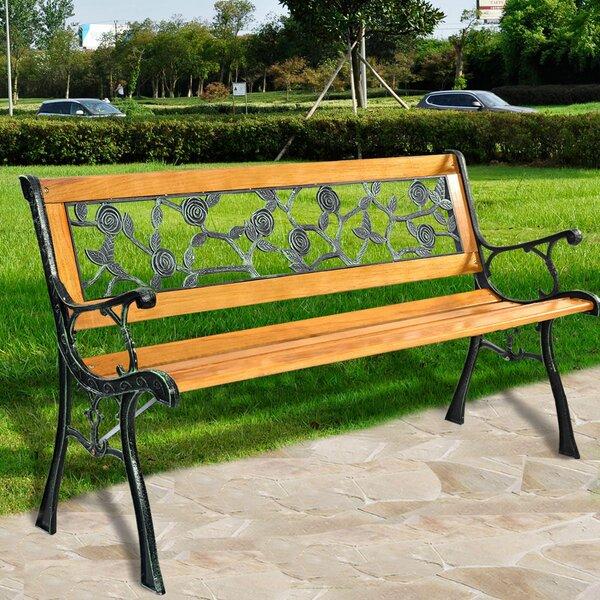 Hartung Patio Park Rose Aluminum Garden Bench by Fleur De Lis Living