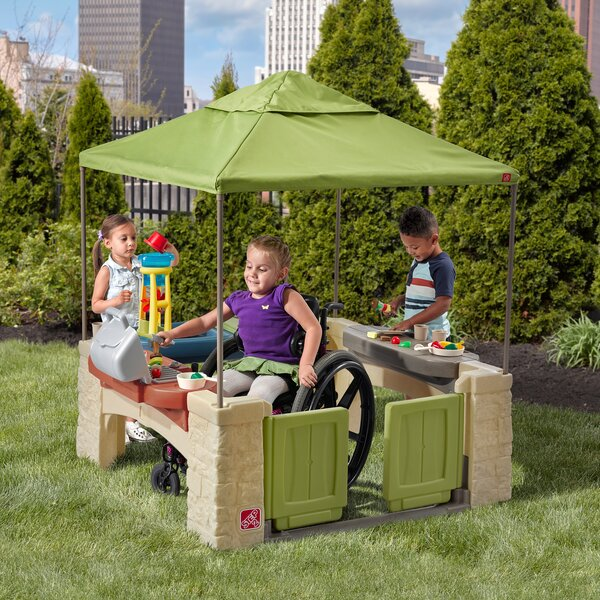 All Around Playtime Patio Playhouse with Canopy by