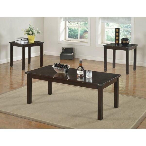 Mckinnie Retro Wooden 3 Piece Coffee Table Set by Williston Forge