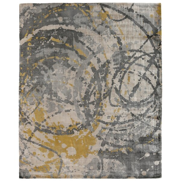 Koda Han-Woven Gold/Gray Area Rug by Exquisite Rugs