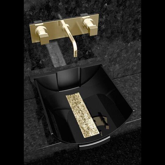 Calla Contemporary Glass Specialty Vessel Bathroom Sink