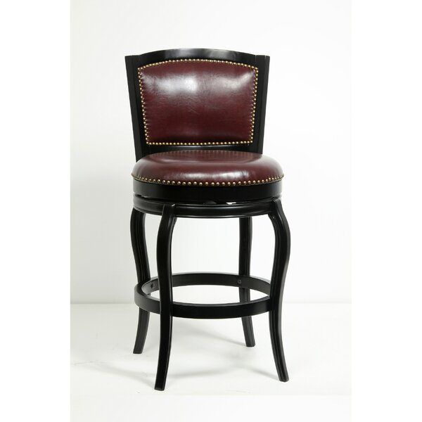 Faith Classic Tufted 30 Swivel Bar Stool by Charlton Home
