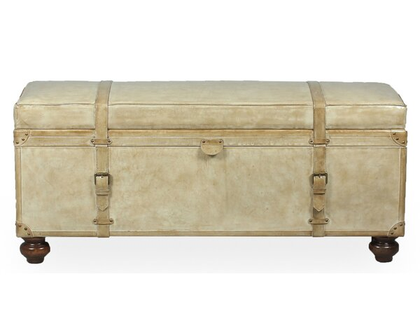 Moralez Leather Storage Bench by Astoria Grand