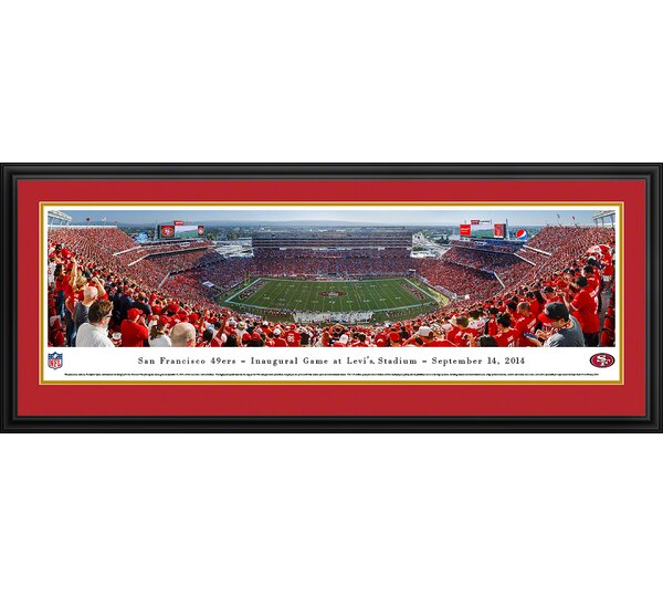 NFL San Francisco 49Ers - Inaugural by Christopher Gjevre Framed Photographic Print by Blakeway Worldwide Panoramas, Inc