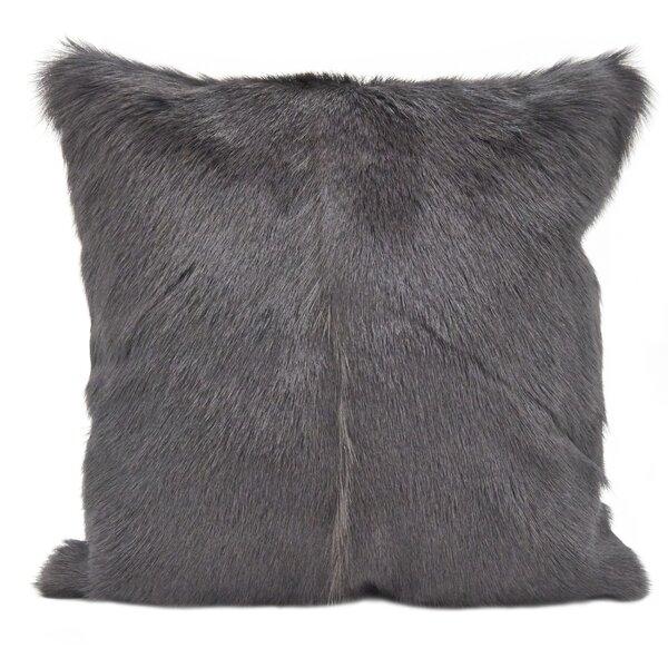 Oquinn Goat Fur Throw Pillow by Union Rustic