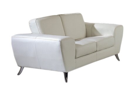 Alonso Leather Loveseat by Wade Logan