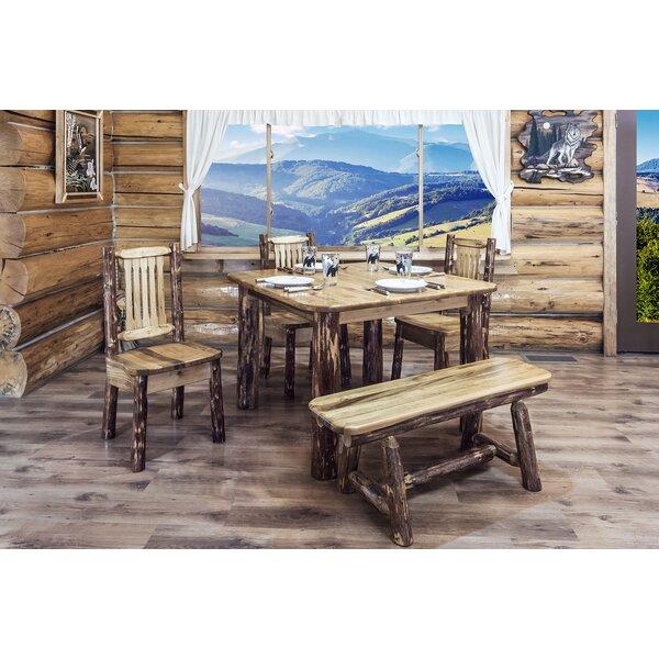 Tustin Wood Bench by Loon Peak Loon Peak