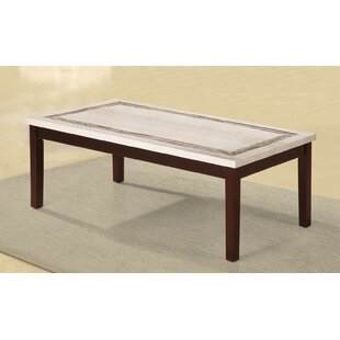 Purchase Mccully Faux Marbelized Granite Top Coffee Table ByRed Barrel Studio