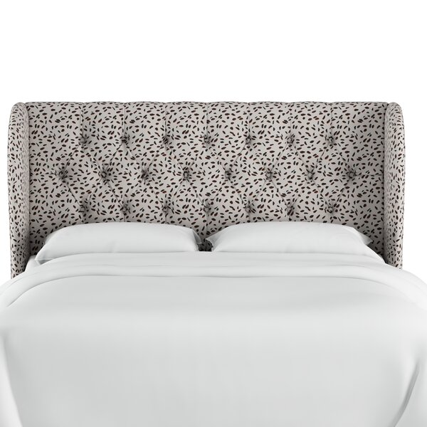 Marksbury Tufted Upholstered Wingback Headboard by Wrought Studio