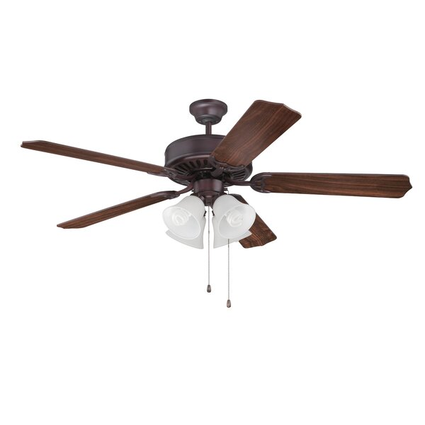 52 Holmstrom 5 Hand-Scraped Blade Ceiling Fan by Alcott Hill