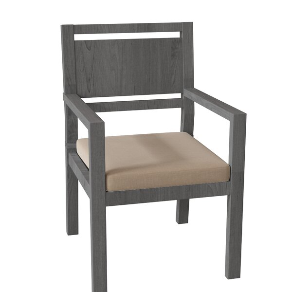 Avondale Teak Patio Dining Chair with Cushion by Summer Classics
