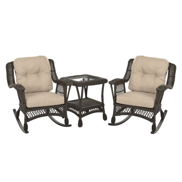 Dempster Outdoor Garden Bristo 3 Piece Seating Group with Cushions by Highland Dunes