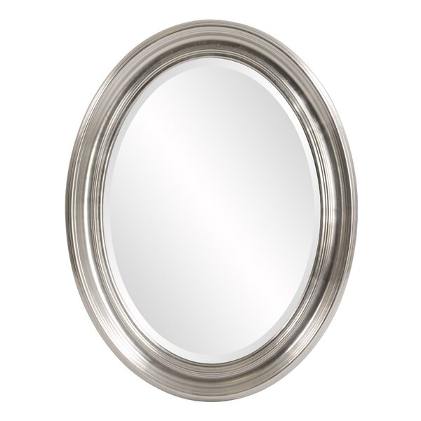 Oval Metallic Silver Wall Mirror by Darby Home Co