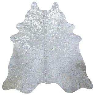 Brazilian Cowhide Silver Area Rug