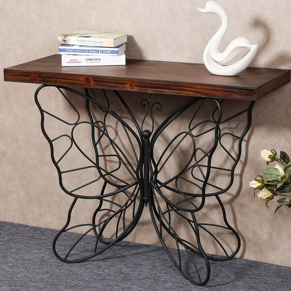Shiela Butterfly Console Table by August Grove