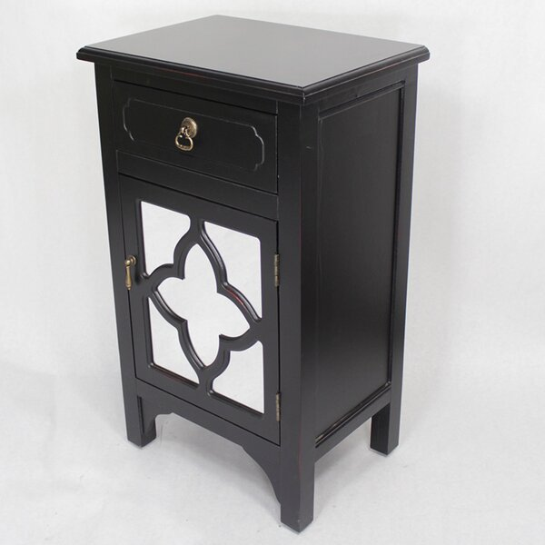 Napolitano 1 Drawer Accent Cabinet by Bungalow Rose