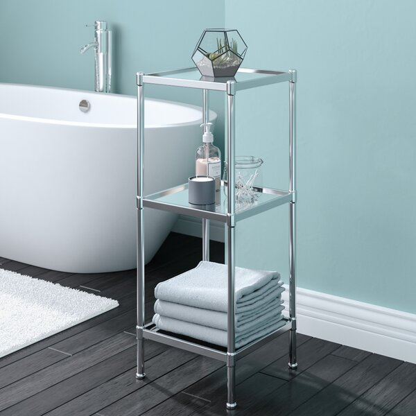 Glacier 13.25 W x 33.75 H Bathroom Shelf by Rebrilliant