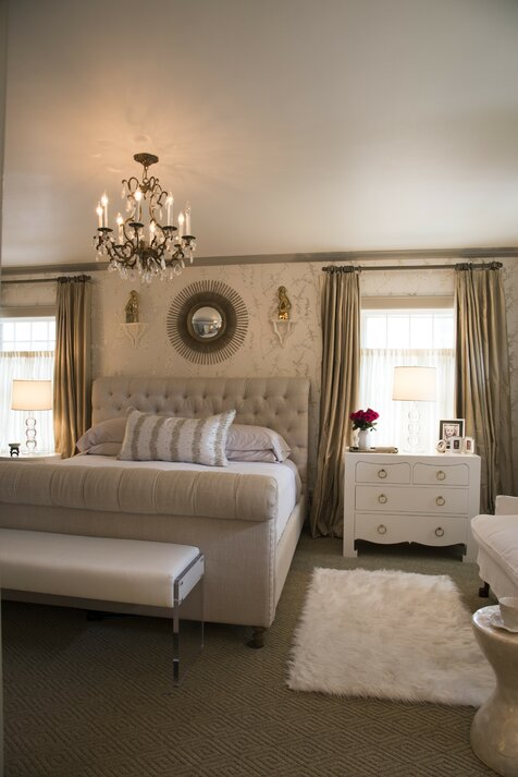 For What Its Worth, LLC Carrie Lucke Chambre à coucher de style glam