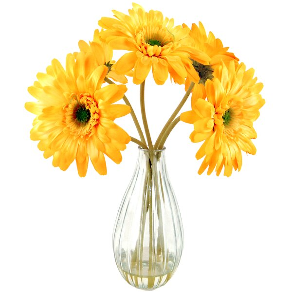 Gerber Daisies in Glass Vase by LCG Florals
