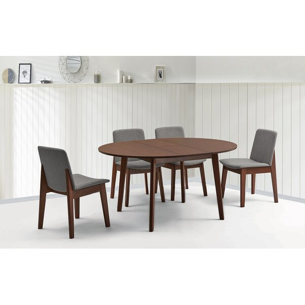 Mello 5 Piece Extendable Solid Wood Dining Set by Ivy Bronx Ivy Bronx