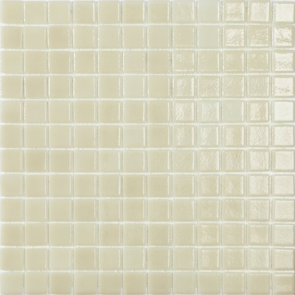 Mediterranean Sunrise 1 x 1 Glass Mosaic Tile in Beige by Kellani