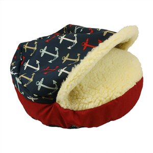 Pool and Patio Cozy Cave Anchors Dog Bed