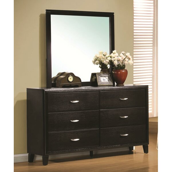 Volkonskaya 6 Drawer Double Dresser with Mirror by Latitude Run