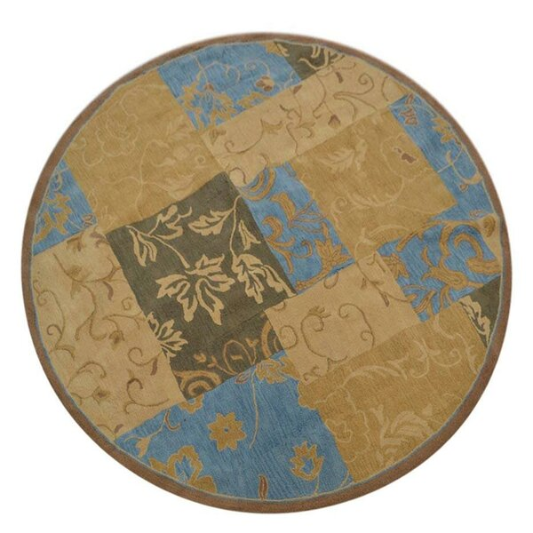 Aarav Hand-Tufted Wool Beige/Blue/Brown Area Rug by Fleur De Lis Living