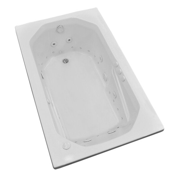 Montserrat 59.75 x 35.5 Rectangular Air & Whirlpool Jetted Bathtub with Drain by Spa Escapes