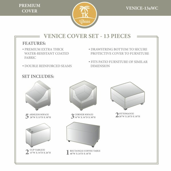 Eldredge 13 Piece Patio Furniture Cover Set by Rosecliff Heights
