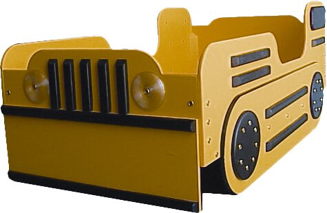 Pettit Bulldozer Toddler Car Bed by Zoomie Kids