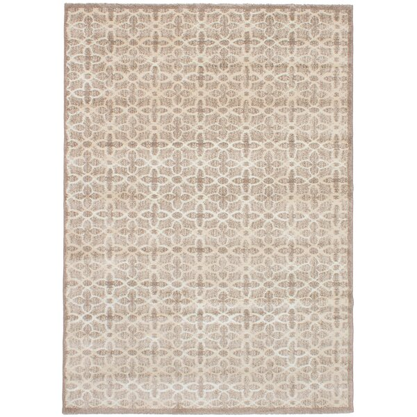 Craver Brown/Cream Area Rug by Bungalow Rose