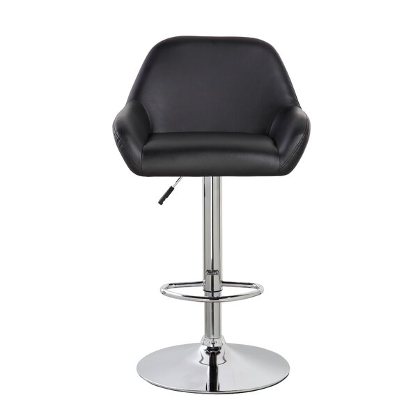 Agne Adjustable Height Swivel Bar Stool (Set of 2) by Orren Ellis
