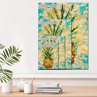 Acrylic Painting Print On Canvas In Yellow Orange Green Beige Teal