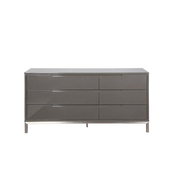 Keynsham 6 Drawer Double Dresser by Wade Logan
