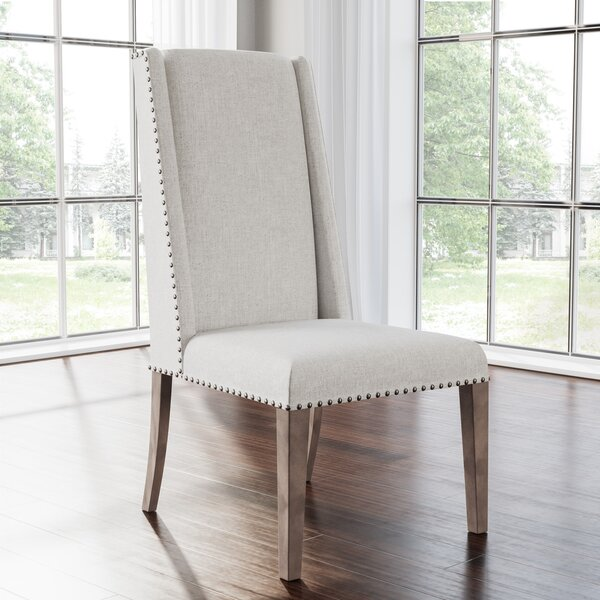 Averi Acacia Upholstered Dining Chair (Set of 2) by Gracie Oaks