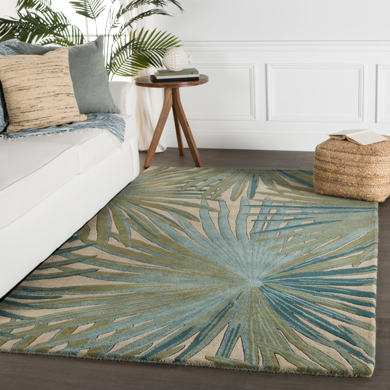 Bay Isle Home Arsos Hand Tufted Wool Green Area Rug Reviews Wayfair