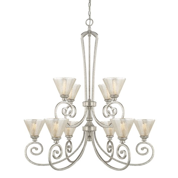 Ritchie 10-Light Shaded Chandelier by House of Hampton