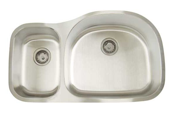Premium Series 35 L x 20.75 W Double Bowl Undermount Kitchen Sink by Artisan Sinks