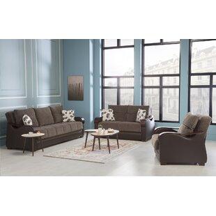 Balraj 3 Piece Sleeper Living Room Set by Wrought Studio™