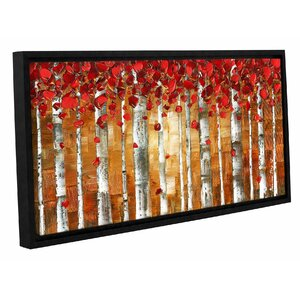 'Red Birch' Framed Painting Print by Zipcode Design