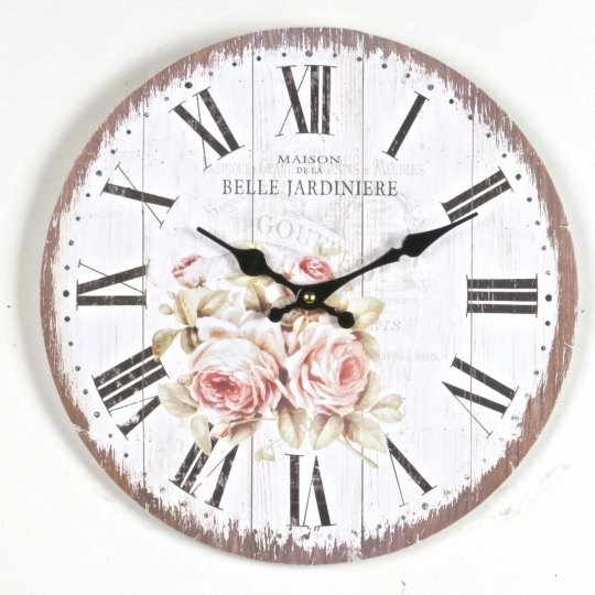 Avani Roses 13.5 Wall Clock by Ophelia & Co.