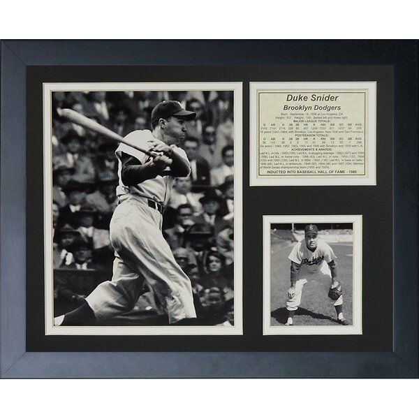 Duke Snider Framed Memorabilia by Legends Never Die
