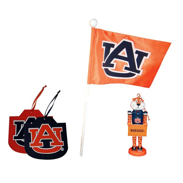 4 Piece Auburn Ornament Set by Santa's Workshop
