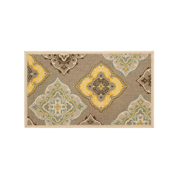 Jaya Allie Taupe/Yellow Indoor/Outdoor Area Rug by Laura Ashley