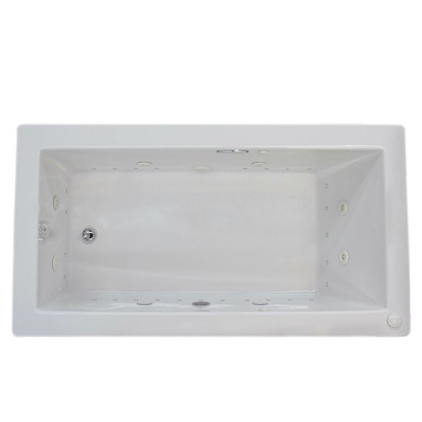 Guadalupe 59.25 x 36 Rectangular Air & Whirlpool Jetted Bathtub with Drain by Spa Escapes