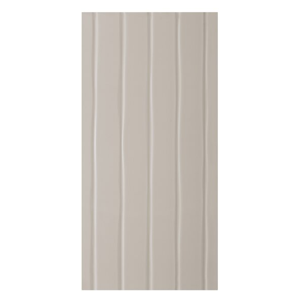 Conran Flow 10 x 20 Ceramic Wall Tile in Satin Putty by Mulia Tile