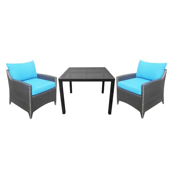 Molimo 3 Piece Bistro Set with Cushions by Red Barrel Studio